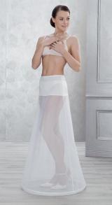 jupon blanc 1 cerceau 1084 tour de taille lastique - Jupon Mariage 1 Cerceau Pas Cher