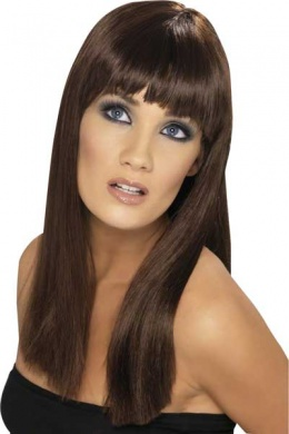 Cheveux long lisse avec frange