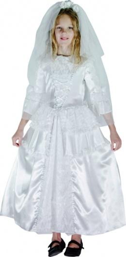 d guisement robe de mari e avec cerceau fille