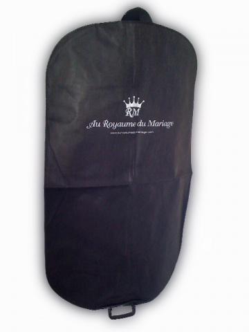 housse 115cm x 65cm pour costume avec logo. Black Bedroom Furniture Sets. Home Design Ideas