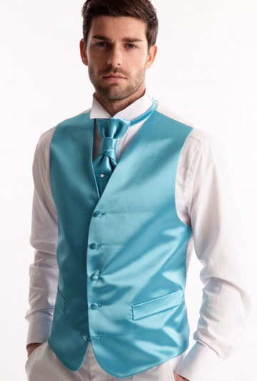 gilet de mariage satin turquoise. Black Bedroom Furniture Sets. Home Design Ideas