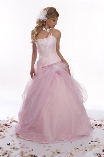 Robe de mariee rose blanc